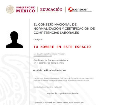 Curso Certificación en Precios Unitarios